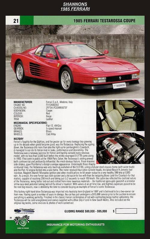 1985 Ferrari Testarossa Coupe